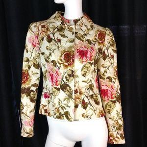 Dolce & Gabbana runway floral roses blazer